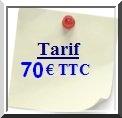 Tarif Site vitrine 70 euros