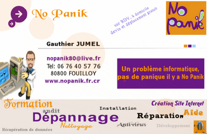 Carte visite No Panik